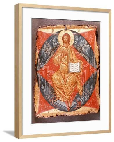 Icon (Tempera on Panel)-Andrei Rublev-Framed Art Print