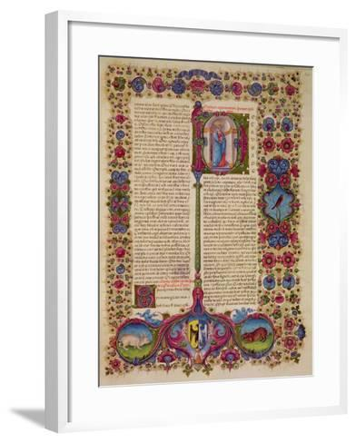 Fol.231R First Letter from St. Peter to the Apostles, from the Borso D'Este Bible. Vol 2 (Vellum)-Italian-Framed Art Print