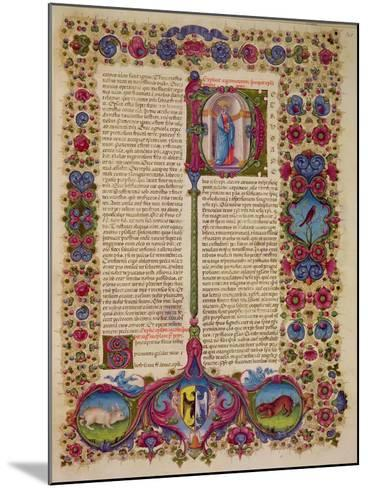Fol.231R First Letter from St. Peter to the Apostles, from the Borso D'Este Bible. Vol 2 (Vellum)-Italian-Mounted Giclee Print