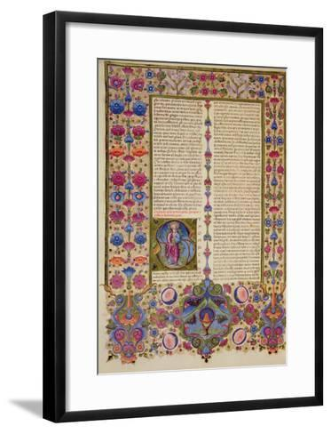 Fol.232V Second Letter from St. Paul to the Apostles, from the Borso D'Este Bible. Vol 2 (Vellum)-Italian-Framed Art Print