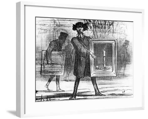 Ignoramuses.......They Have Refused This!', Caricature from 'Charivari' Magazine, 6 April, 1859-Honore Daumier-Framed Art Print