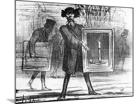 Ignoramuses.......They Have Refused This!', Caricature from 'Charivari' Magazine, 6 April, 1859-Honore Daumier-Mounted Giclee Print