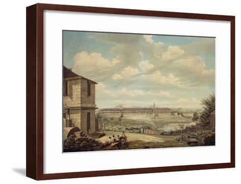 A View on the Island of Antigua: the English Barracks and St. John's Church Seen from the Hospital-Thomas Hearne-Framed Art Print
