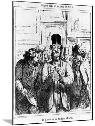 The Promenade of the Influential Critic', Cartoon from 'Charivari' Magazine, 24 June, 1865 (Litho)-Honore Daumier-Mounted Giclee Print