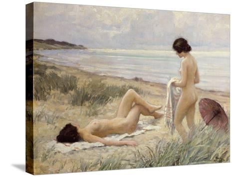 Summer on the Beach-Paul Fischer-Stretched Canvas Print