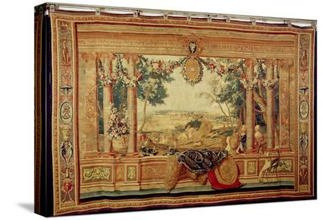 The Month of June/ Chateau of Fontainebleau, from the Series of Tapestries-Charles Le Brun-Stretched Canvas Print