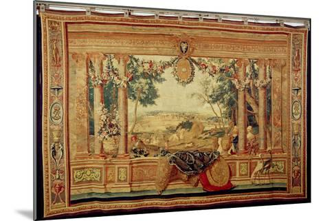 The Month of June/ Chateau of Fontainebleau, from the Series of Tapestries-Charles Le Brun-Mounted Giclee Print