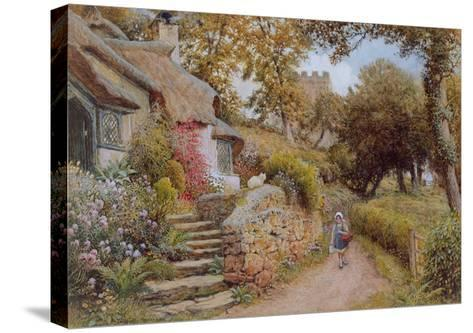 A Country Lane (W/C on Paper)-Arthur Claude Strachan-Stretched Canvas Print
