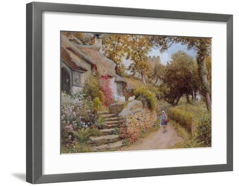 A Country Lane (W/C on Paper)-Arthur Claude Strachan-Framed Art Print