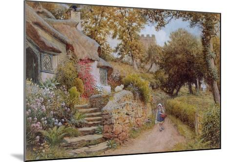 A Country Lane (W/C on Paper)-Arthur Claude Strachan-Mounted Giclee Print