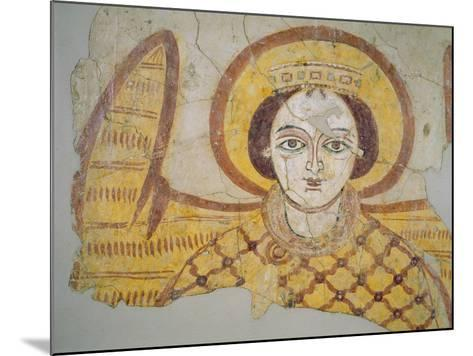 Crowned Archangel with Spread Wings, from the Cathedral of Faras, Sudan (Fresco)- Coptic-Mounted Giclee Print