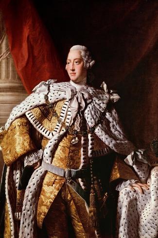 King George Iii, c.1762-64-Allan Ramsay-Stretched Canvas Print