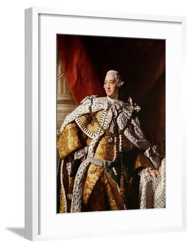 King George Iii, c.1762-64-Allan Ramsay-Framed Art Print