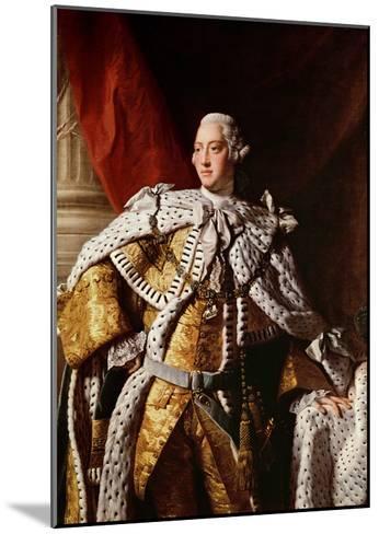 King George Iii, c.1762-64-Allan Ramsay-Mounted Giclee Print