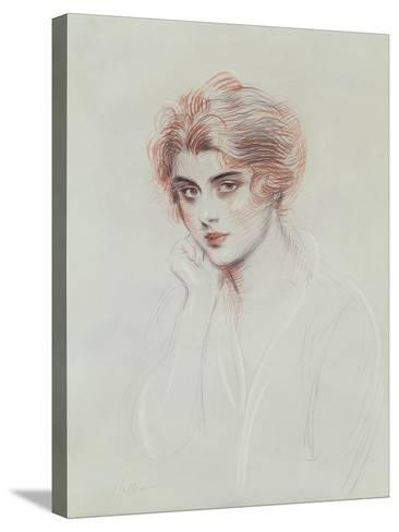 The Artist's Daughter (Coloured Pencil on Paper)-Paul Cesar Helleu-Stretched Canvas Print
