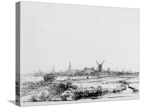 View of Amsterdam, C.1640 (Etching)-Rembrandt van Rijn-Stretched Canvas Print