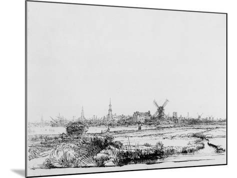 View of Amsterdam, C.1640 (Etching)-Rembrandt van Rijn-Mounted Giclee Print