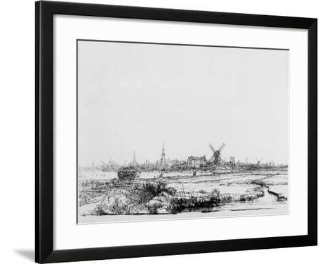 View of Amsterdam, C.1640 (Etching)-Rembrandt van Rijn-Framed Art Print