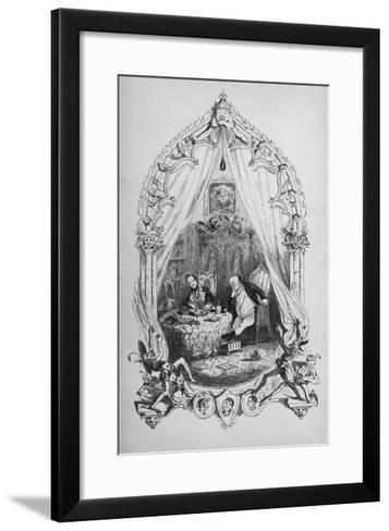 Illustration from `The Pickwick Papers' by Charles Dickens, Published 1837 (Litho)-Hablot Knight Browne-Framed Art Print
