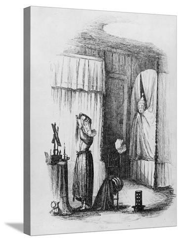 The Middle-Aged Lady in the Double-Bedded Room, Illustration from 'The Pickwick Papers'-Hablot Knight Browne-Stretched Canvas Print
