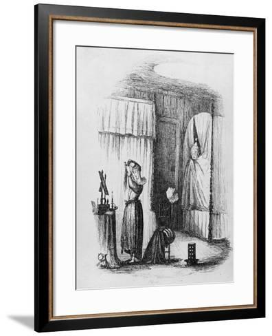 The Middle-Aged Lady in the Double-Bedded Room, Illustration from 'The Pickwick Papers'-Hablot Knight Browne-Framed Art Print