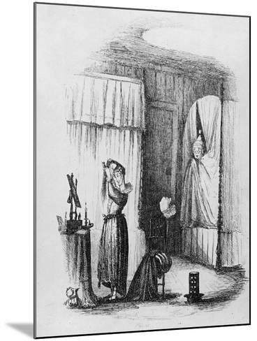 The Middle-Aged Lady in the Double-Bedded Room, Illustration from 'The Pickwick Papers'-Hablot Knight Browne-Mounted Giclee Print