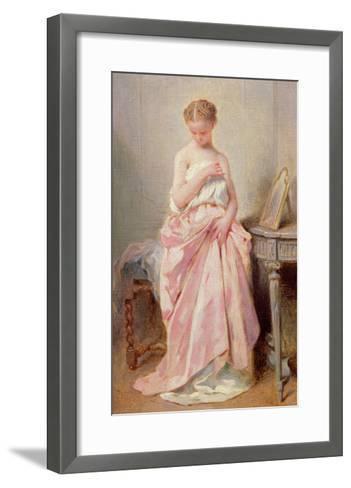 Girl in a Pink Dress-Charles Chaplin-Framed Art Print