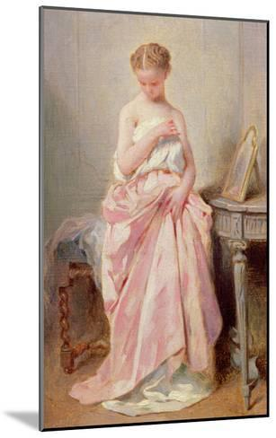 Girl in a Pink Dress-Charles Chaplin-Mounted Giclee Print