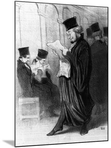 Les Gens De Justice, Cartoon from 'Le Charivari', 26 March, 1846 (Litho)-Honore Daumier-Mounted Giclee Print
