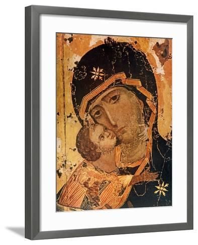 Icon (Oil on Wood Panel)-Russian-Framed Art Print