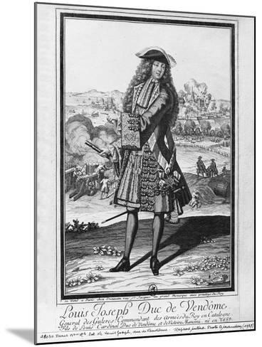 Louis Joseph De Bourbon, Duke of Vendome, known as 'The Great Vendome' (Engraving) (B/W Photo)-French-Mounted Giclee Print