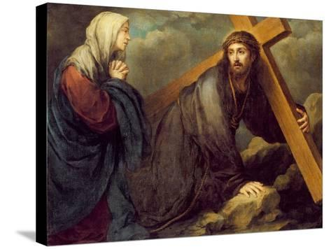 Christ at Calvary-Bartolome Esteban Murillo-Stretched Canvas Print