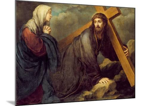Christ at Calvary-Bartolome Esteban Murillo-Mounted Giclee Print