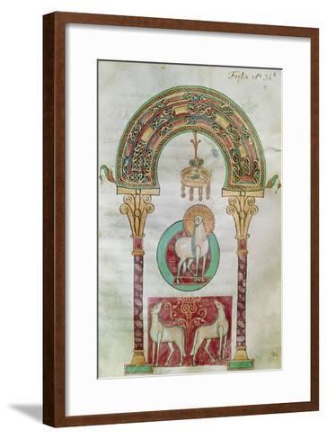 Ms Ccii Fol.35R Agnus Dei, Illustration of the 'Lamb of God' from 'Etymologiae'- Carolingian-Framed Art Print