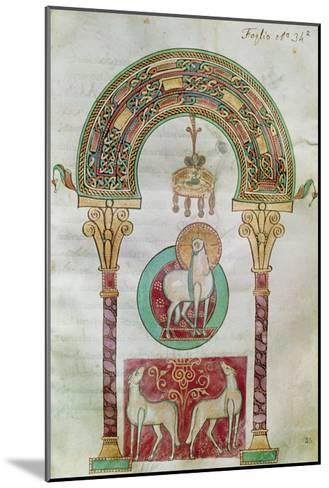 Ms Ccii Fol.35R Agnus Dei, Illustration of the 'Lamb of God' from 'Etymologiae'- Carolingian-Mounted Giclee Print