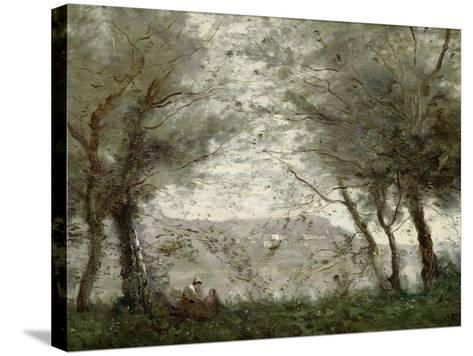 The Pond at Ville-D'Avray Through the Trees, 1871-Jean-Baptiste-Camille Corot-Stretched Canvas Print
