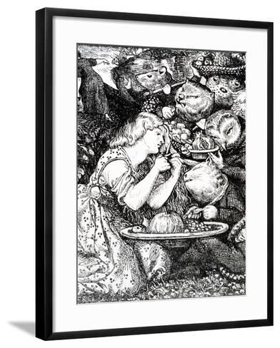 Frontispece to 'Goblin Market and Other Poems' by Christina Rossetti, Engraved by William Morris-Dante Gabriel Rossetti-Framed Art Print