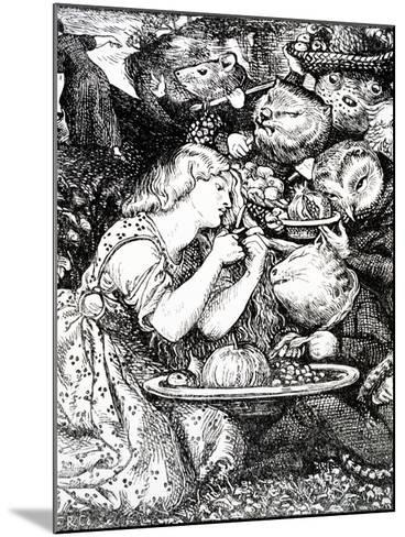 Frontispece to 'Goblin Market and Other Poems' by Christina Rossetti, Engraved by William Morris-Dante Gabriel Rossetti-Mounted Giclee Print