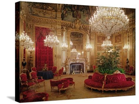 The Great Drawing Room of the Napoleon Iii Apartments, C.1861 (Colour Photo)--Stretched Canvas Print