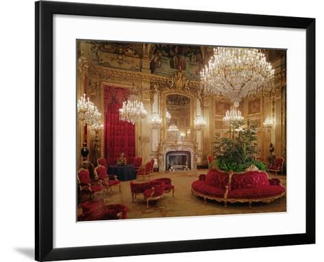 The Great Drawing Room of the Napoleon Iii Apartments, C.1861 (Colour Photo)--Framed Art Print