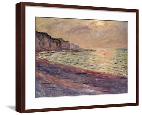 The Beach at Pourville, Setting Sun, 1882-Claude Monet-Framed Art Print