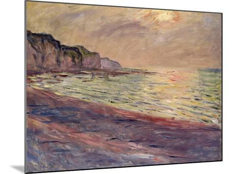The Beach at Pourville, Setting Sun, 1882-Claude Monet-Mounted Giclee Print