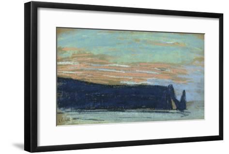 The Cliff at Etretat, C.1885 (Pastel)-Claude Monet-Framed Art Print