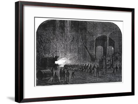Process of Rolling Armour-Plates for Her Majesty's Ships at the Alas Steelworks, Sheffield-Mason Jackson-Framed Art Print