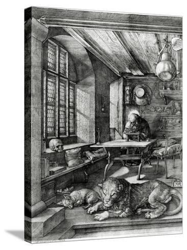 St. Jerome in His Study, 1514 (Engraving)-Albrecht D?rer-Stretched Canvas Print