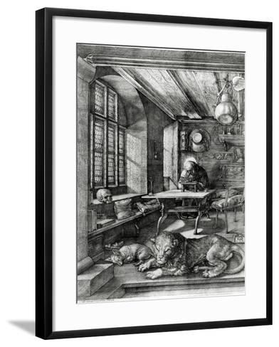St. Jerome in His Study, 1514 (Engraving)-Albrecht D?rer-Framed Art Print