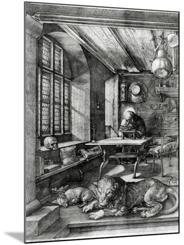 St. Jerome in His Study, 1514 (Engraving)-Albrecht D?rer-Mounted Giclee Print