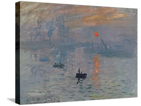 Impression: Sunrise, 1872-Claude Monet-Stretched Canvas Print