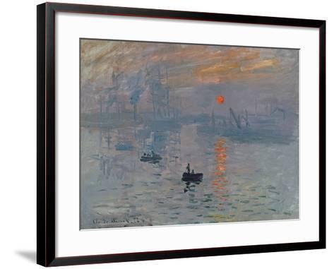 Impression: Sunrise, 1872-Claude Monet-Framed Art Print