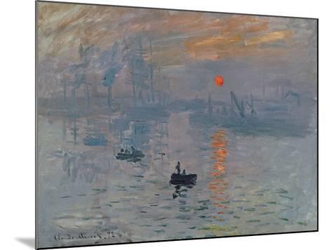 Impression: Sunrise, 1872-Claude Monet-Mounted Giclee Print